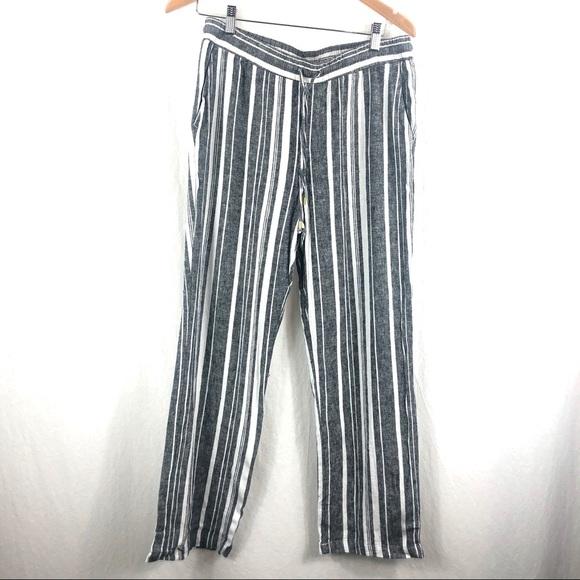 Linen striped pants